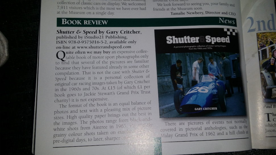 A review of the book 'Shutter & Speed Volume 1'.
